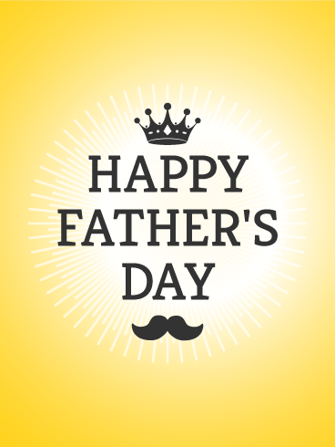Crown Father's Day Card
