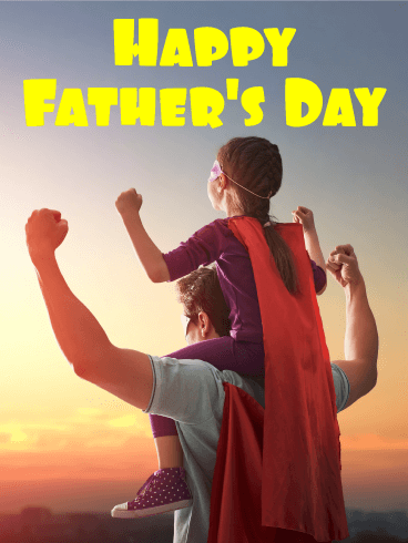 To my Strong Dad - Happy Father's Day Card