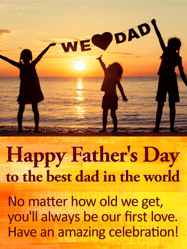 We Love Dad! Happy Father's Day Card