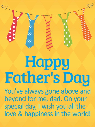 Wishing You Love and Happiness - Happy Father's Day Card