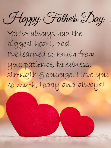 I Love You Dad! Happy Father's Day Card | Birthday ...