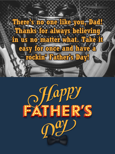 To my Rockin' Dad! Happy Father's Day Card