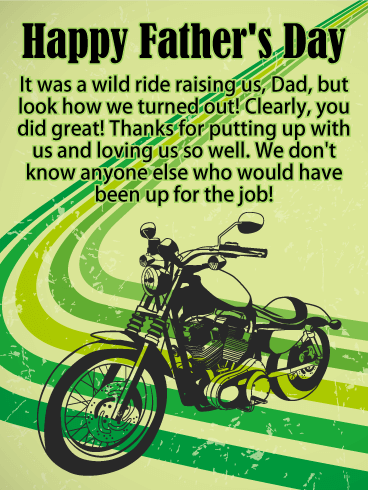 Thank You for Raising us! Happy Father's Day Card