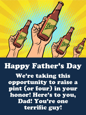 Here's Pint to You - Happy Father's Day Card
