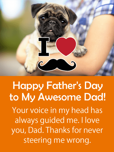 Your Voice Has Guided Me- Happy Father's Day Card