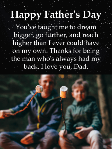 Dream Bigger - Happy Father's Day Card