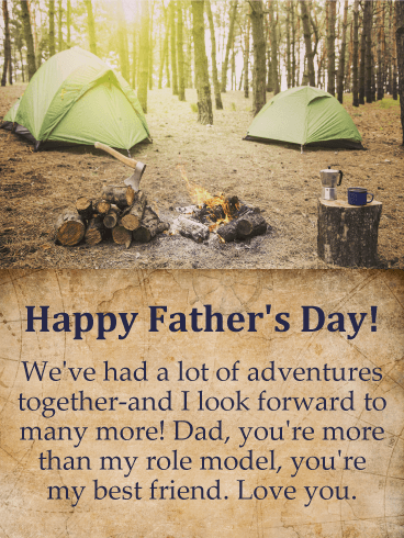 To my Best Dad - Happy Father's Day Card