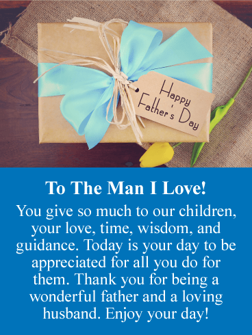 You Give So Much - Happy Father's Day Card from Wife