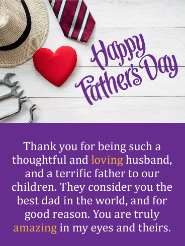 You're the Best! Happy Father's Day Card from Wife