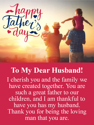 I Cherish You Happy Fathers Day Card From Wife Birthday