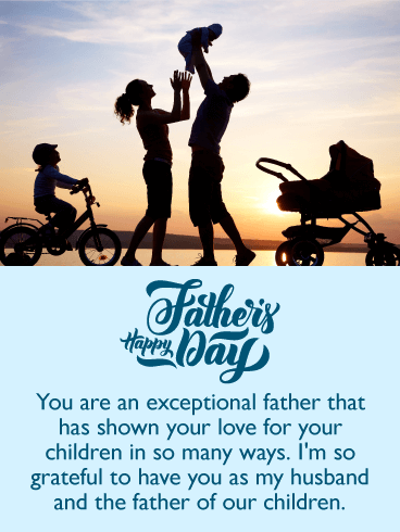 Grateful To Have You Happy Fathers Day Card From Wife Birthday