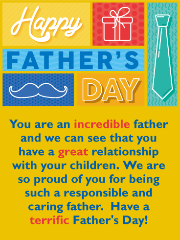 Great Relationship - Happy Father's Day Card