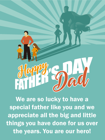 So Lucky To Have You Happy Fathers Day Card Birthday Greeting