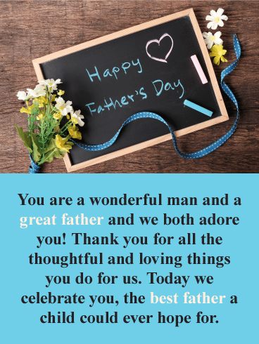We Adore You! Happy Father's Day Card