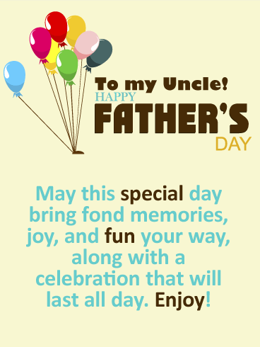 Time to Celebrate! Happy Father's Day Cards for Uncle