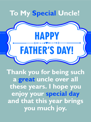 Brings You Joy - Happy Father's Day Cards  for Uncle
