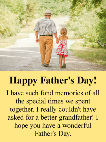 Fond Memories - Happy Father's Day Cards for Grandfather