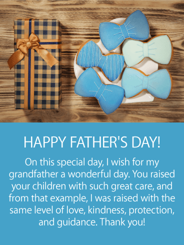 Wonderful Day - Happy Father's Day Card for Grandfather