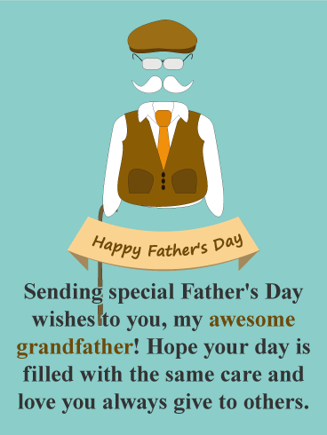 Love & Care - Happy Father's Day Card for Grandfather