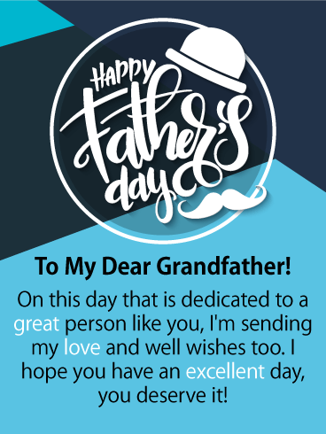 You Deserve It! Happy Father's Day Card for Grandfather