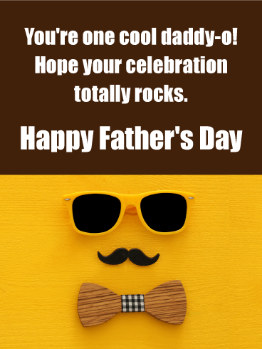 Hope it Rocks! Funny Father's Day Card