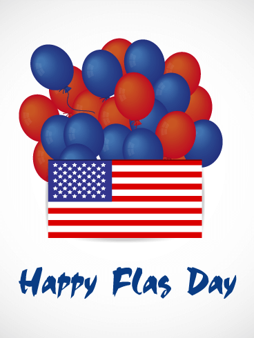 Happy Flag Day Balloon Card