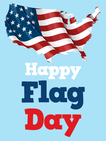 Land of America - Happy Flag Day Card