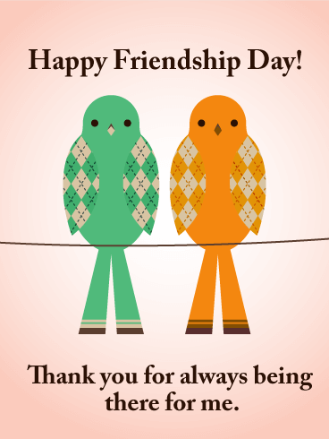 Friendship Day Birds Card