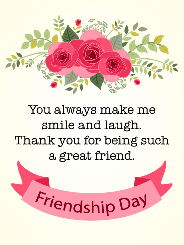 Friendship Day Rose Card