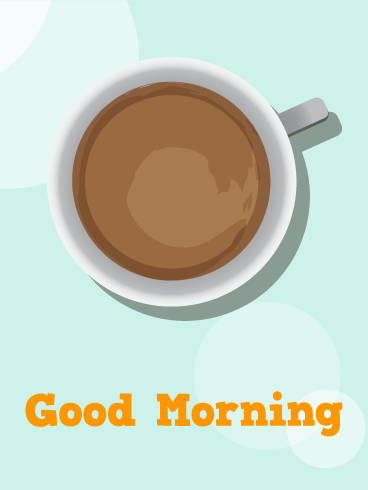 Morning Coffee Card