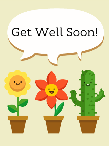 Smiley Face Get Well Card