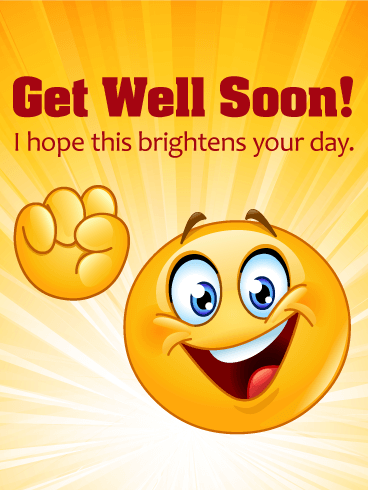 Cheerful Smiley Face Get Well Card