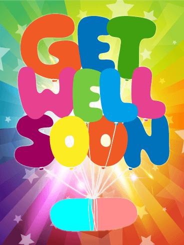 Rainbow Get Well Card