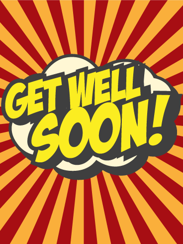 Comic Design Get Well Card