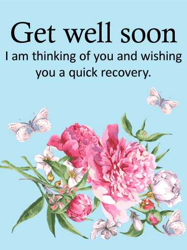 Carnation Get Well Card
