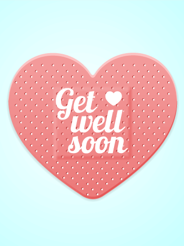 Heart Band Aid Get Well Card