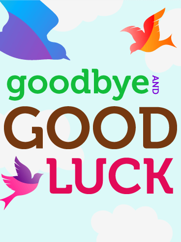 Goodbye & Good Luck Flying Birds Card