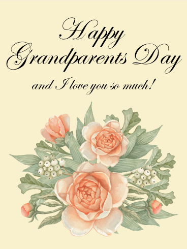 Grandparents Day Rose Card