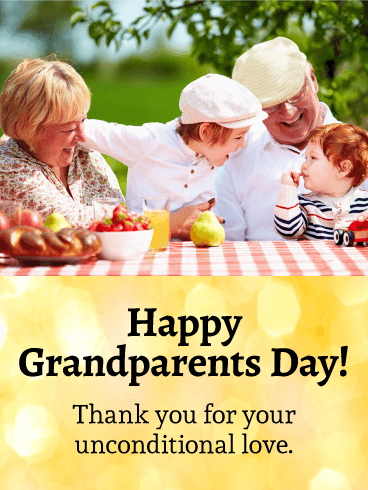 Happy Moments! Grandparents Day Card