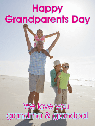 We Love You! Grandparents Day Card