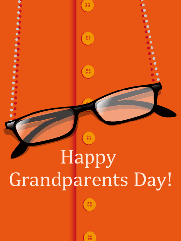 Eyeglasses Grandparents Day Card