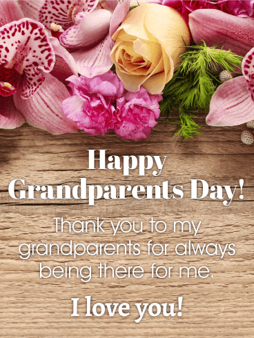 To My Best Supporters - Grandparents Day Card