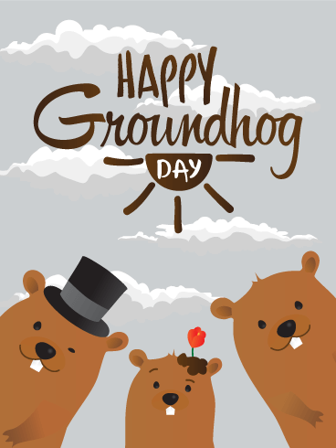Groundhog Family Card