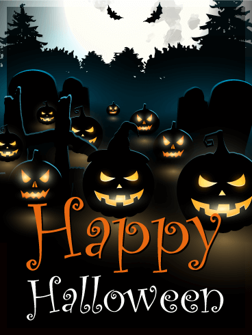 Dark Halloween Pumpkin Card