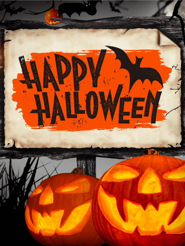 Dark Night Halloween Card
