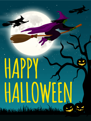 Midnight Halloween Card
