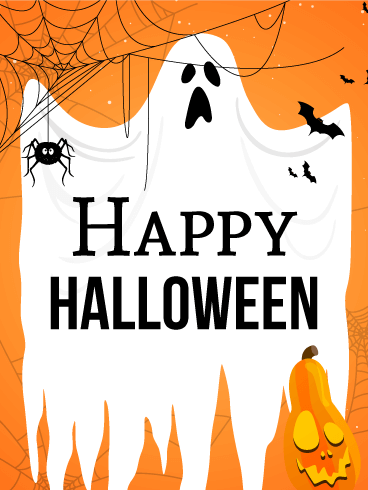 Spooky Ghost Halloween Card | Birthday & Greeting Cards by Davia