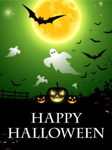 Scary Night Halloween Card | Birthday & Greeting Cards by Davia