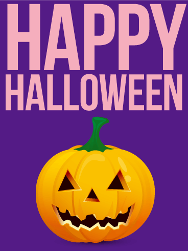 Cheerful Halloween Card | Birthday & Greeting Cards by Davia