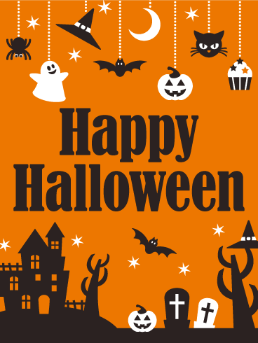 Spooky! Happy Halloween Card | Birthday & Greeting Cards by Davia